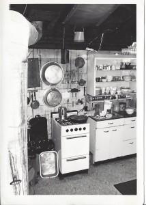 Dorothy's kitchen with propane stove